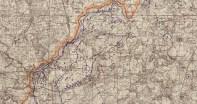 mapa zwiadu lotniczego 1940 r Kolno